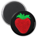 Strawberry Vintage Look Magnets