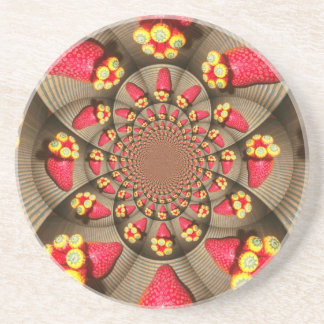 STRAWBERRY VINTAGE RED AND YELLOW.jpg Beverage Coasters
