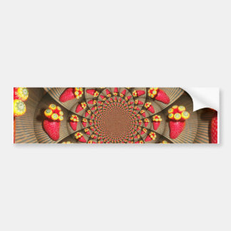 STRAWBERRY VINTAGE RED AND YELLOW.jpg Car Bumper Sticker