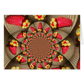 STRAWBERRY VINTAGE RED AND YELLOW.jpg Greeting Card
