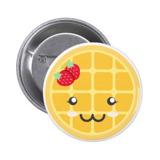 Strawberry Waffle Pinback Button
