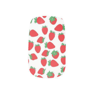 Strawberry Wallpaper Scatter Minx Nail Art