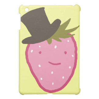 Strawberry Wearing A Top Hat Cover For The iPad Mini
