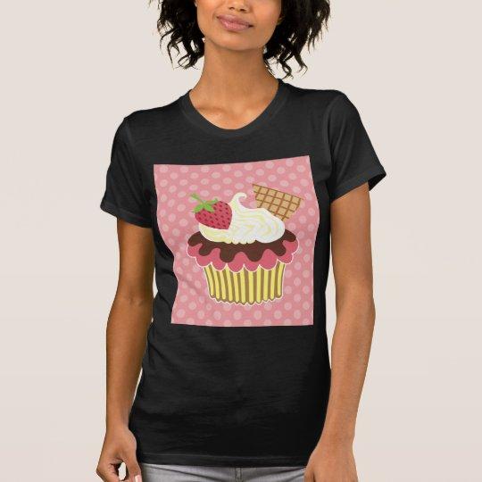 Strawberry & Whipped Cream Cupcake T-shirt