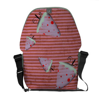 Strawberry Whismical cute Rupydetequila Mint Green Messenger Bag