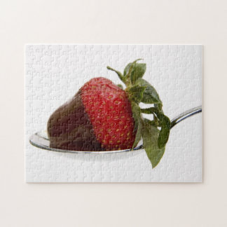 Strawberry with chocolate jigsaw puzzles
