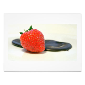 Strawberry with dark Valrhona chocolate Photo Art