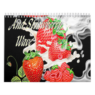 StrawberryandRasberrywave Calendarios De Pared