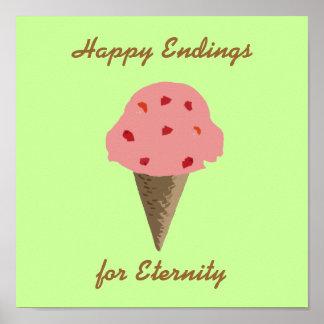 strawberrycream, conclusiones felices, para la ete posters