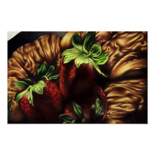 Strawberrys y Croissants Impresiones