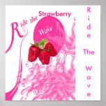 StrawberryWave, RideTheWave, Strawberry Posters