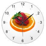 Strawbery and orange clocks