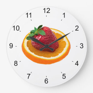 Strawbery and orange large clock