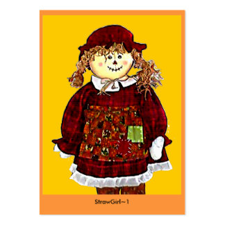 StrawGirl 1 by jGibney ATC ~ Open Edition 2009 Large Business Cards (Pack Of 100)