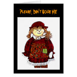 StrawGirlTransp3b72dpi, Please!, Don't Scare ME Greeting Cards