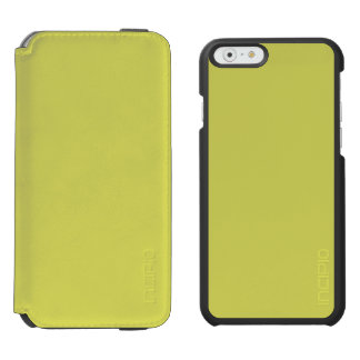 STRAWMAN YELLOW (solid hay color) ~ iPhone 6/6s Wallet Case