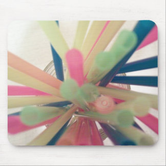 straws mouse pad
