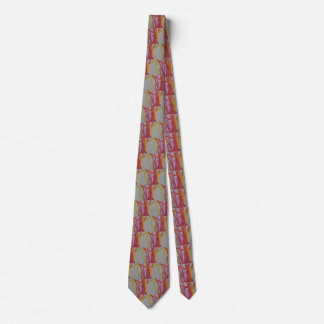 Straws party, 2 sided printing neck tie