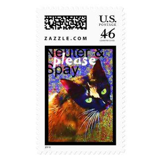 Stray Cat (3), Neuter & Spay, plea... - Customized Stamp