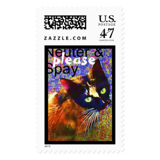 Stray Cat, Neuter & Spay Please! Postage