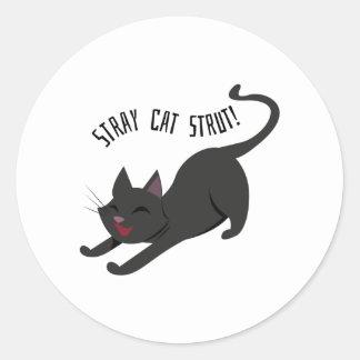 Stray Cat Strut Classic Round Sticker
