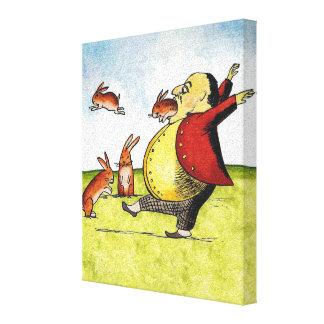 Stray Hares Canvas Print