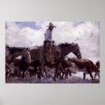 Stray Man Heads Home by Koerner, Vintage Cowboy Poster