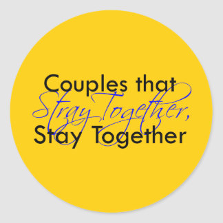 Stray Together Classic Round Sticker