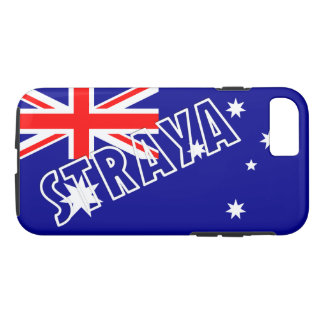 Straya Aussie Flag iPhone Case