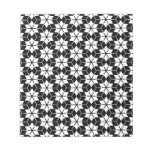 Straya pattern black & white note pad