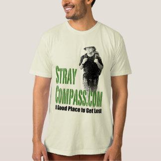 StrayCompass.com Green Text T-Shirt