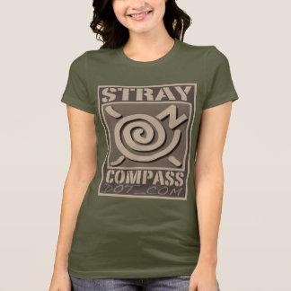 StrayCompass.com Women's Brown Compass Logo T-Shirt