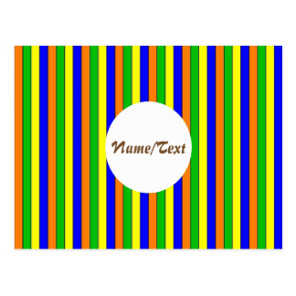 streak cheerful,colorful postcard