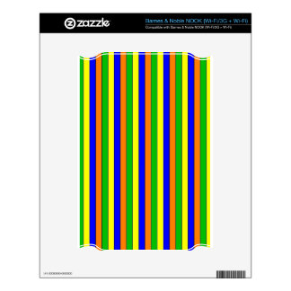 streak cheerful,colorful decal for NOOK
