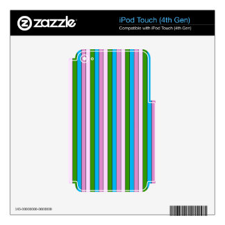 streak cheerful,green iPod touch 4G decal