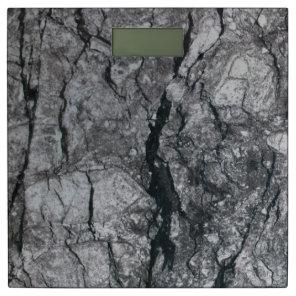 Streaked ebony ivory marble stone bathroom scale
