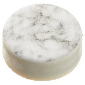 streaked ebony ivory marble stone chocolate dipped oreo