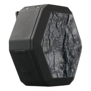 streaked ebony ivory marble stone finish black bluetooth speaker