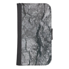 streaked ebony ivory marble stone galaxy s4 wallet case
