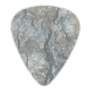 Streaked ebony ivory marble stone pearl celluloid guitar pick