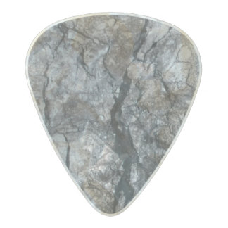 Streaked ebony ivory marble stone pearl celluloid guitar pick
