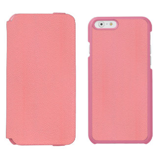 Streaked Pink Leather Grain Look iPhone 6/6s Wallet Case