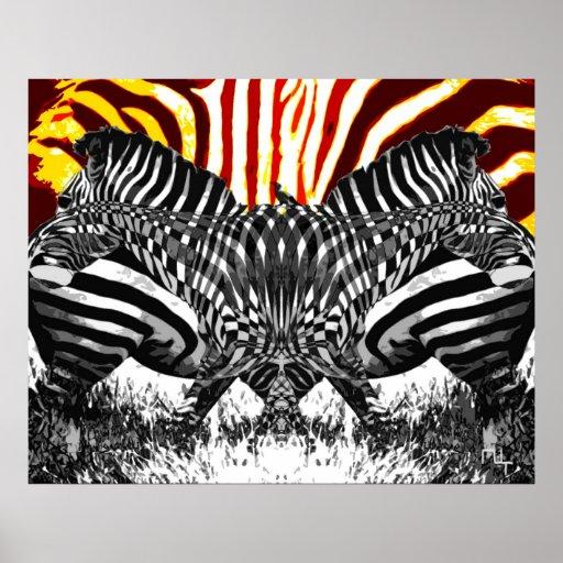 Streaking Zebras  Posters