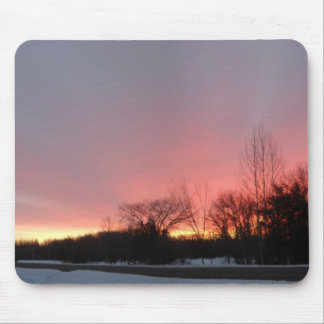Streaky February Dawn Sky Mouse Pad