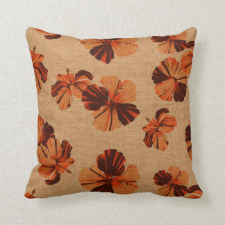 Streaky Hawaiian Hibiscus Reversible Pillows
