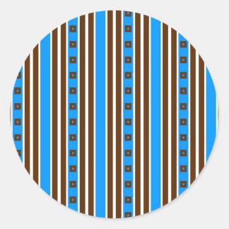 Streaky Wallpaper Round Sticker