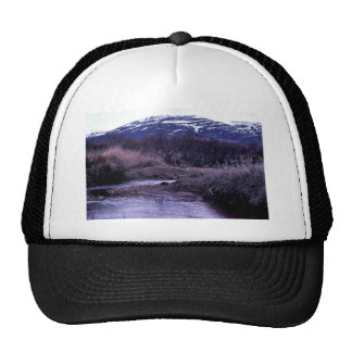 Stream and Mountain Landscape Hats