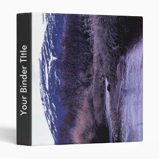Stream and Mountain Landscape Vinyl Binders