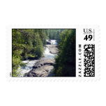 Stream And Waterfall Postage Stamp