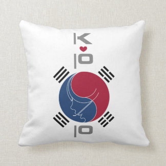 Stream-Art_K-POP Ala KOREA design Throw Pillow